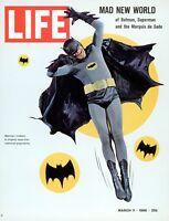 Heim Wand Kunstdruck - Retro Magazin Poster - Leben Batman - A4,A3,A2,A1