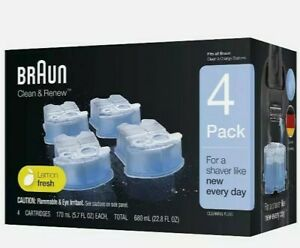 Braun Clean Renew Cartridges Refills 4 Pack Series 3 5 7 Shaver Cleaner CCR,