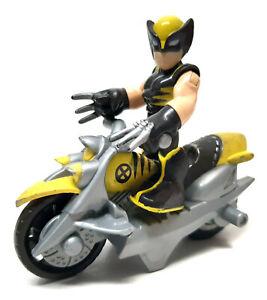 MARVEL COMICS SUPERHERO SQUAD Wolverine figure & motor bike vehicle toy