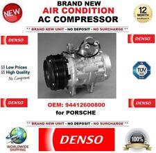 DENSO AIR CONDIZIONE AC COMPRESSORE OEM 94412600800 per PORSCHE * Unità Nuovo di Zecca *