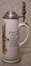 Beer Stein with lid Stoneware Gambrinus 0.75 Liter NEW Made in Germany boxed