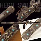 Traditional Handmade Folded Steel Chinese Sword Tang Dynasty Jian Full Tang 唐剑