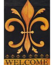 """Fleur de Lis Welcome-House Flag-Printed-30""""x44"""""""