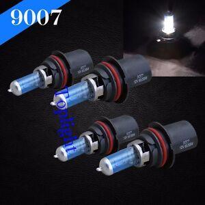 Combo 2 Pair 9007-HB5 White 5000K 100w Xenon Halogen Headlight Bulb Hi/Lo Beam