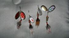Lot 4- Fishing MEPPS AGLIA COMET 1 Bait Lure Hook Spin Spoon small Treble >>L@@K