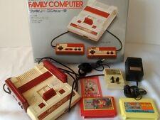 Nintendo Famicom NES consoles hvc-001, PSU (Adaptateur), RF Switch, Games, en boîte set-x11 -