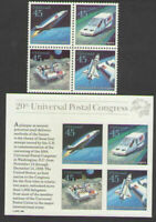 C122-5 + C126 USA UPU Mint NH 1989.Souvenir Sheet + Block Future Mail Delivery