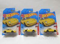 Lot of 3 2020 Hot Wheels Porsche 2/5 - '96 Porsche Carrera (Yellow)