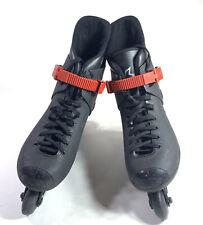 Vintage Rollerblade Lightning Inline 1990's Skates Black Red Mens Sz 10.5 / 44.5