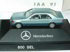 1:87 Mercedes-Benz S-Klasse 600SEL W140 perlblau IAA 91 - Dealer-Edition herpa