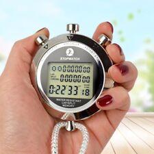 Antimagnetic Chronograph Metal Digital Timer Stopwatch Sports Counter Waterproof