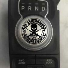 Dodge Ram 2nd Amendment Gun Skull Shift Knob Decal Sticker Graphic Vinyl Gear