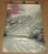 Stairway To Paradise Tapestry Wall Hanging w/Verse ~ Artist, Thomas Kinkade