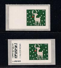 COMPUTER VENDED POSTAGE Reindeer CVP89, Normal & Copy of Blank Label