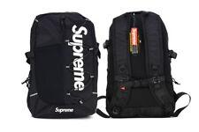 x1 Black Supreme Backpack Bag Unisex High Quality Classic School Bag 18