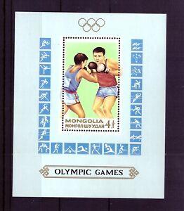 Mongolei Block 129 - postfrisch mit versch. Piktogrammen (Tischtennis, Fußball)