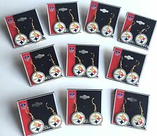 Whs Lot of 10 Pittsburgh Steelers Logo Earrings - NFL Licensed Jewelry