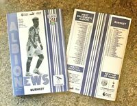 West Brom Bromwich Albion v Burnley PL MATCHDAY PROGRAMME 17/10/20!