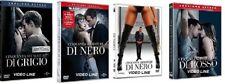 Dvd 50 CINQUANTA SFUMATURE DI NERO/GRIGIO/ROSSO + PARODIA 50 SBAVATURE DI NERO
