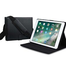 Apple iPad Air 2 Case Shoulder Strap Handle Travel Shock Proof Full Cover Black