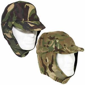 British Army Waterproof Cold Weather Cap Gore-Tex Fleece-Lined DPM/MTP Camo