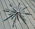 """VTG Mid Century Modern Moe Light Chrome Starburst sputnik 16 bulb Chandelier 34"""""""