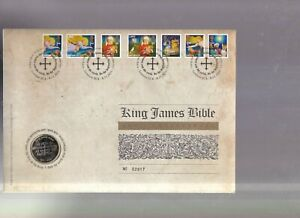 Great Britain, 2011 BU £2 Coin Cover, 2 Pounds, King James Bible FDC