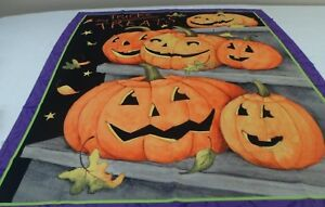 """TRICKS AND TREATS PANEL  36"""" x 45""""  GREAT WALL HANGER  OR QUILT FREE SHIPPING"""