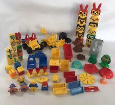 Random Bundle Lot Lego Duplo Tractor Digger Police Car Figures Building Blocks