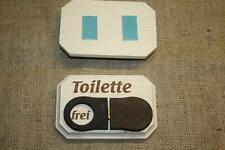 WC-Schild, frei / besetzt aus Holz, Badtürschild, Toilettenschild, neu