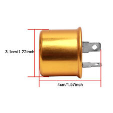 12V 2 Pin Prong Terminal Electronic Switch Relay Turn Signal Light Flasher Gold