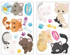 19-teiliges Süße Katzen Wandtattoo Set Kinderzimmer Babyzimmer 3 Größen