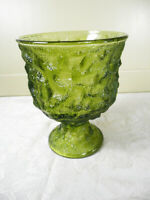 EO Brody Co. Emerald Green Frosted A102 Pedestal Goblet USA Cleveland