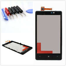 Front Black Touch Screen Glass Lens Digitizer + Frame for NOKIA Lumia 820 + Tool