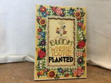 "Mary Engelbreit ""Bloom Where You Are Planted� Picture Frame 1996"
