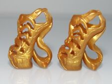 MATTEL MONSTER HIGH DOLL GOLD SWIRL SANDALS / SHOES FASHION -NEW