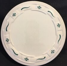 """Longaberger Pottery Woven Traditions Green 8.5"""" Trivet"""