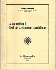 CANADIAN ETHNOLOGY ESSAY FRENCH BOOKLET 1957 : ASTAM MITCHOUN !