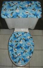 DISNEY FROZEN OLAF Fleece Fabric Elongated Toilet Seat Cover Set