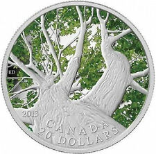 2013 0.999 Fine Silver $20 Coin Canadian Maple Canopy Spring **FIRST IN SERIES**