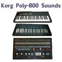Most Sounds: Korg Poly-800, Poly-800II, EX-800, PS-800