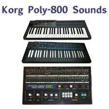Korg Poly-800, Poly-800II, EX-800, PS-800 - Largest Sound Collection