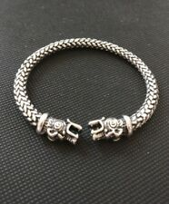 Vikings SILVER 2 Headed Wolf Replica Bracelet Show Allegiance to RAGNAR !@@K NEW