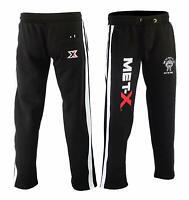 Men's Met-X Muscle Gym Fleece Joggers Track Suit Bottom Jogging Exercise Fitness