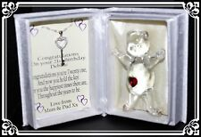 21st birthday gift for her, poem box and Crystal key necklace Precious  #7