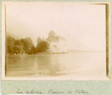 Suisse, Genève, Lac de Genève, Château de Chillon, ca.1900, vintage citrate prin