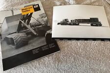 Caterpillar Mobil Trac Product Brochure + Very Rare South Pole Trailer Photo