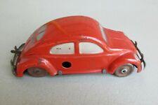 Vtg Tin Wind-Up Red VW Volkswagen Split Window Car ~ Made in US Zone Germany