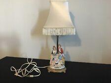 vintage antique porcelain figurine table lamp