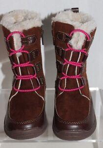 NWT! Toddler Oshkosh B'gosh NESSA-G Faux Suede & Fur Brown Winter Boots, 7